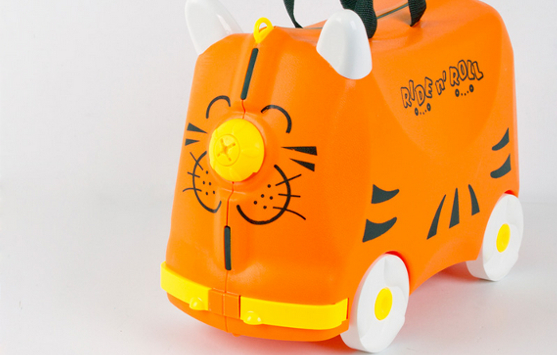 Online Shopping Ride n' Roll Suitcase Orange for Kids